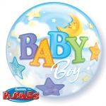 Single bubble.Baby Boy Moon & Stars - 55cm - 23597