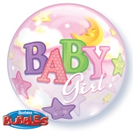 Single bubble.Baby Girl Moon & Stars - 55cm - 23598