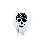 QU.05.pirate skull.white - 100pcs - 99779