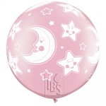 QU.36.Baby Moon & Stars .pearl pink - 32121
