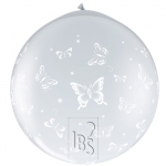 QU.36.Butterflies .diamond clear - neck up! - 31505