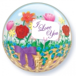 Single bubble.I Love you Flower Basket - 55cm - 81074