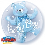 Double bubble.Baby Blue Bear - 60cm - 29486