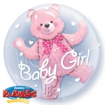 Double bubble.Baby Pink Bear - 60cm - 29488