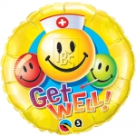 Get Well Smiley Faces - 45cm - QU-29624