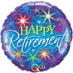 Retirement Colourful Bursts - 45cm - 37932
