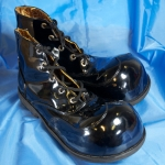 Clown shoes w/ rounded tip.black shining - 541433212103