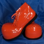 Clown shoes w/ rounded tip.orange.shining - 54143321203