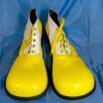 Clown shoes w/ flat tip.yellow+white.shining - 54143321203