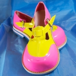 Clown shoes w/ flat tip.yellow+pink.lady - 541433212103