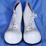 Clown shoes w/ rounded tip.white.shining - 541433212103