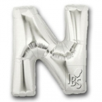 Letter N - silver - 100cm - 3300023-S