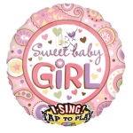 Singing balloon.Sweet Baby Girl - 75cm - 22068