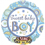 Singing balloon.Sweet Baby Boy - 75cm - 22069