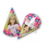 Party hats.Barbie - 6pcs - 520118406825