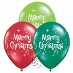 QU.11.Merry Christmas Ornaments.asst. - 25pcs - 27712