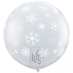 QU.36.Snowflakes & Sparkles.Diamond Clear.90cm - 2pcs - 33533