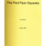 Boek.Larry Moss.The Pied Piper  - 4201476