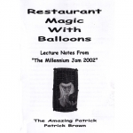 Boek.Patrick Brown.Restaurant Magic with Balloons  - 4212876