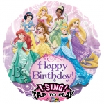 Singing balloon.Princess Bday - 75cm - 25884