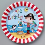 Rachel Elllen.Pirate.plates - 8pcs - 50886