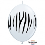 QL.12.Zebra Stripes White - 50pcs  - 90558
