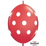 QL.12.Big Polka Dots.red - 50pcs  - 90560