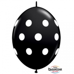 QL.12.Big Polka Dots onyx black - 50pcs  - 90561