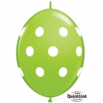 QL.12.Big Polka Dots.lime green - 50pcs  - 90562