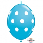 QL.12.Big Polka Dots robins egg blue - 50pcs  - 90566