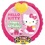 Singing balloon.Hello Kitty.Happy BDay - 75cm - 25885