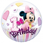 Single bubble.Minnie Mouse 1st Birthday - 55cm - 12862