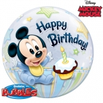 Single bubble.Mickey Mouse 1st Birthday - 55cm - 12864