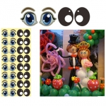 Animal Eyes Sticker - black/blue - I-11326