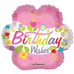 MICRO.Birthday Wishes Flower - 10cm  - 19457-04