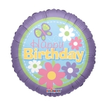 MINI.Birthday Flowers over Purple - 23cm - 19456-09