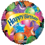 Festive balloons Happy Birthday - 45cm - 17400-18