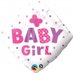 Baby Girl Dots & Butterfly - 45cm - 14659