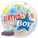 Single bubble.Birthday Boy Party Hat - 55cm - 27510