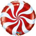 Swirl red-white - 45cm - 64329