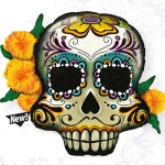 Day of the Dead Skull - 95cm - 44228