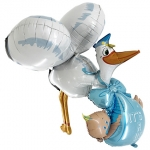 Wonderloon.Baby Boy Stork 3D - 160cm - 73050