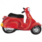 Street Treats.Motor Scooter Red - 80cm - 27388