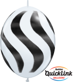 Quicklink.Wavy Stripes Black & White - 30cm - 27933