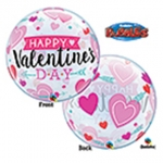 Single bubble.Valentine's Arrows & Hearts - 55cm - 46048