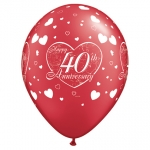 Party Pack.40th Anniversary.Little Hearts - 6pcs - 17780