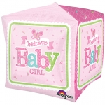 Cubez.Welcome Baby Girl Butterfly - 38cm - 30691
