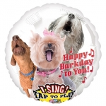 Singing balloon.Happy Bark Day To You - 75cm - 31272