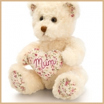 Bear.Belle Rose w/ Mum Heart - 18cm - SM4192