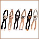 Monkeys. Chattering With Music.6 pcs - 46cm - SW0301-6
